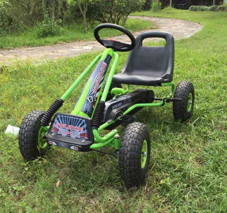 Air Wheel-pedal Go Kart  With Steel Frame And Hand Brake