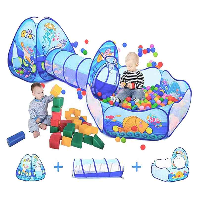Portable Baby Playpen Large Tent With Tunnel And Storage Bag