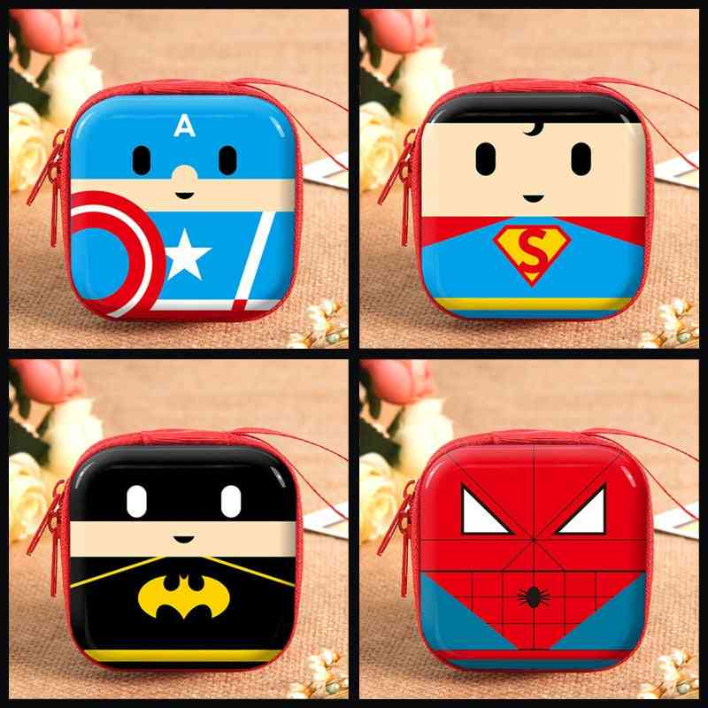 Cartoon Movie Character Print, Plush Wallets For