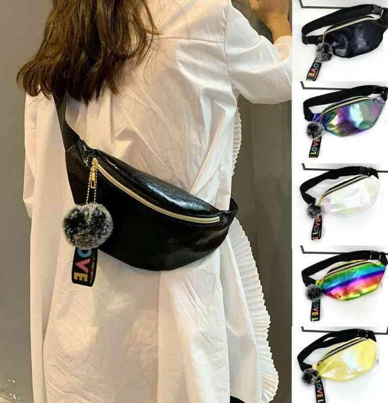 Pu Adjustable Strap, Waist Zipper Bag For Travel