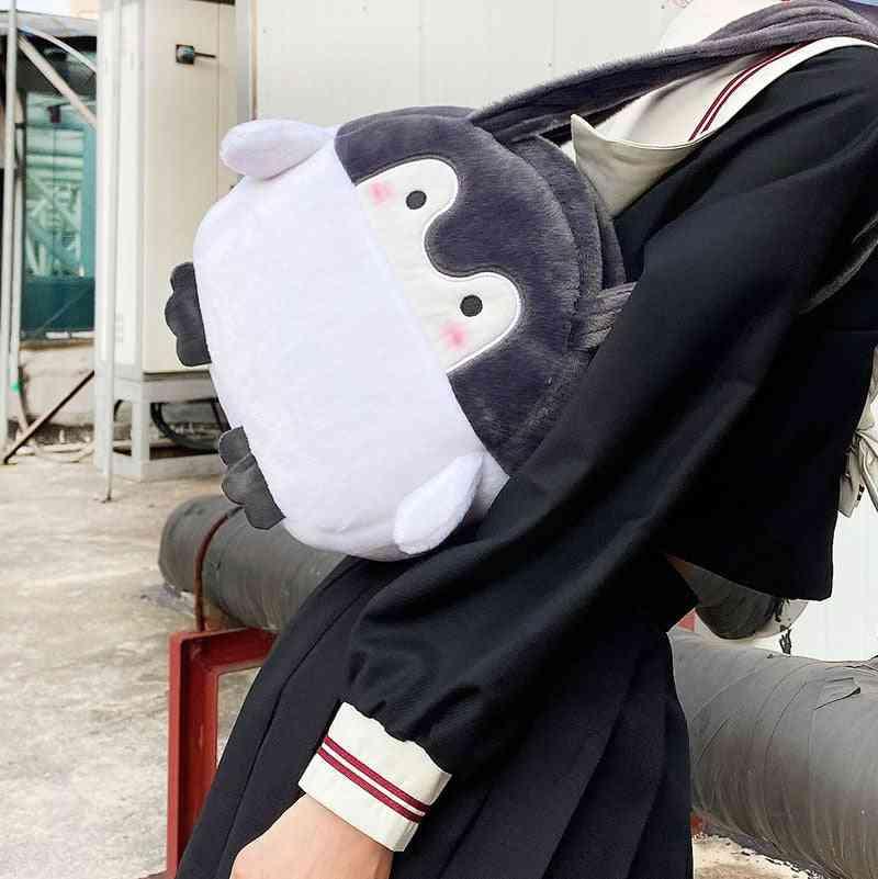 Penguin Shape Plush Shouder Bag