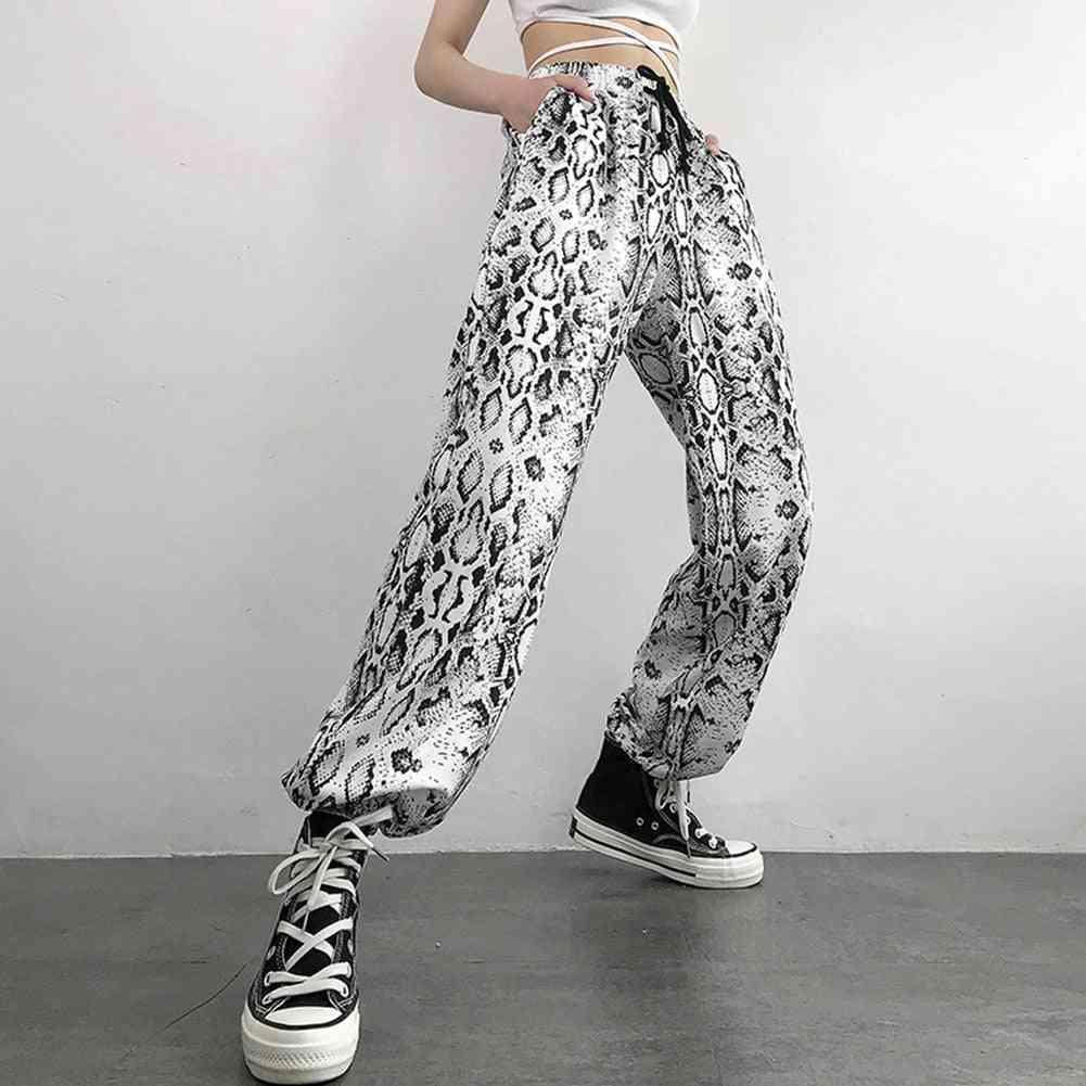 Snake Skin Print, Stree Wear, Casual Trousers