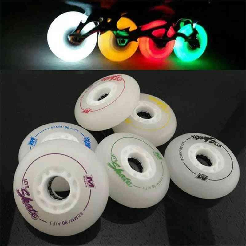 Led Lighting Skating Wheels, 90a Flash Roller Sliding Skate