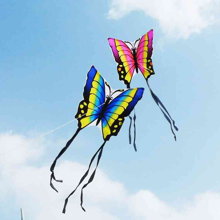 High-quality Butterfly Kite With Handle Line, Flying Easy Control Nylon Birds