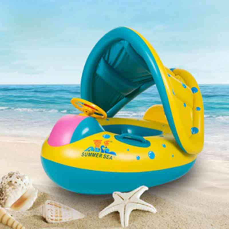 Safety Infant Swimming, Adjustable Sunshade Seat Boat