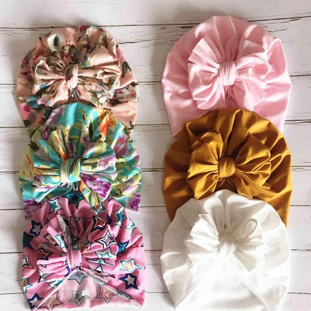 Fashionable Cute Baby Turban-floral Bowknot Head Wraps