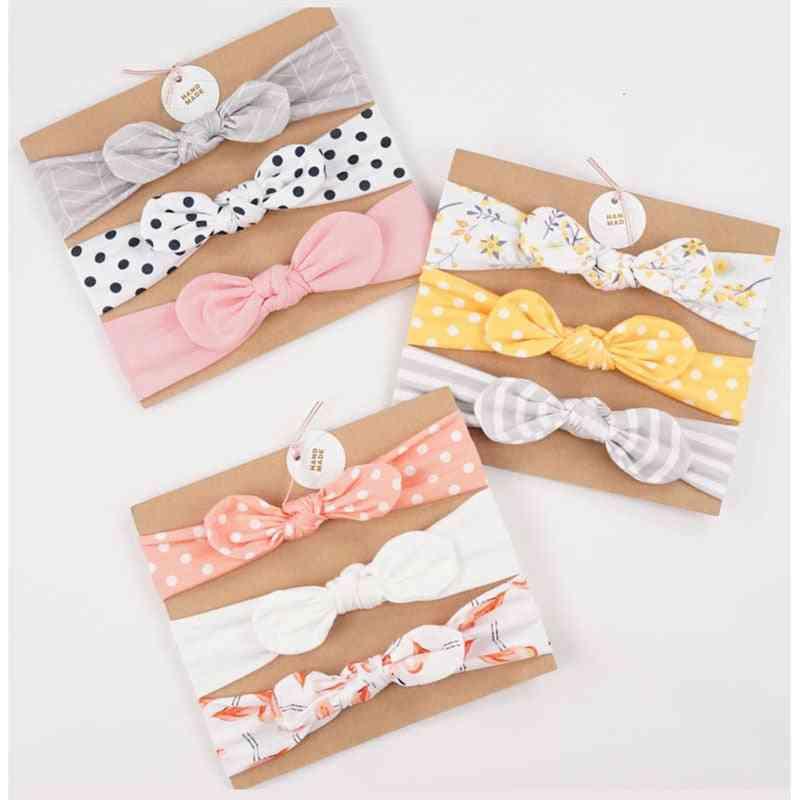 Cute Floral/bow Knot/rabbit Ear Design Baby Headbands