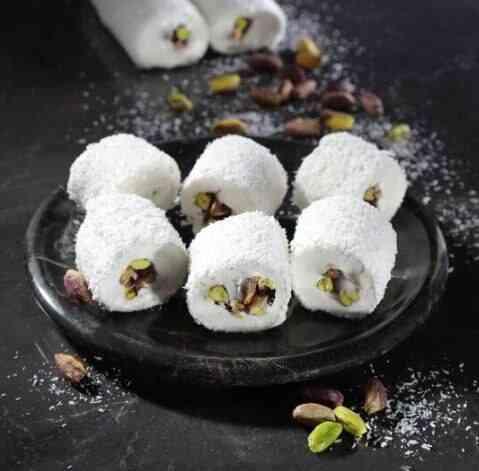 100 G Turkish Delight- Sultan Pistachio Nut Coconut Sweet