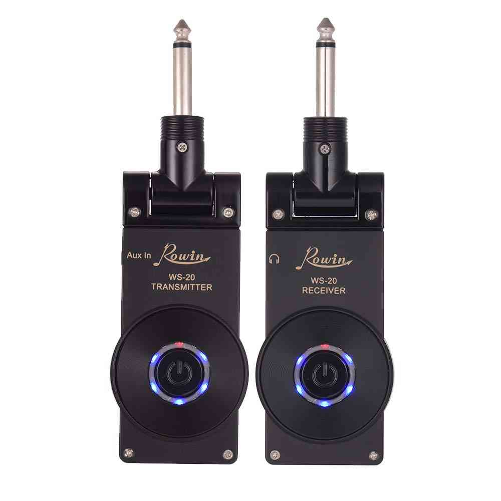 2.4g Wireless Guitar Transmitter Receiver Set, Rechargeable,  30 Meters System Range