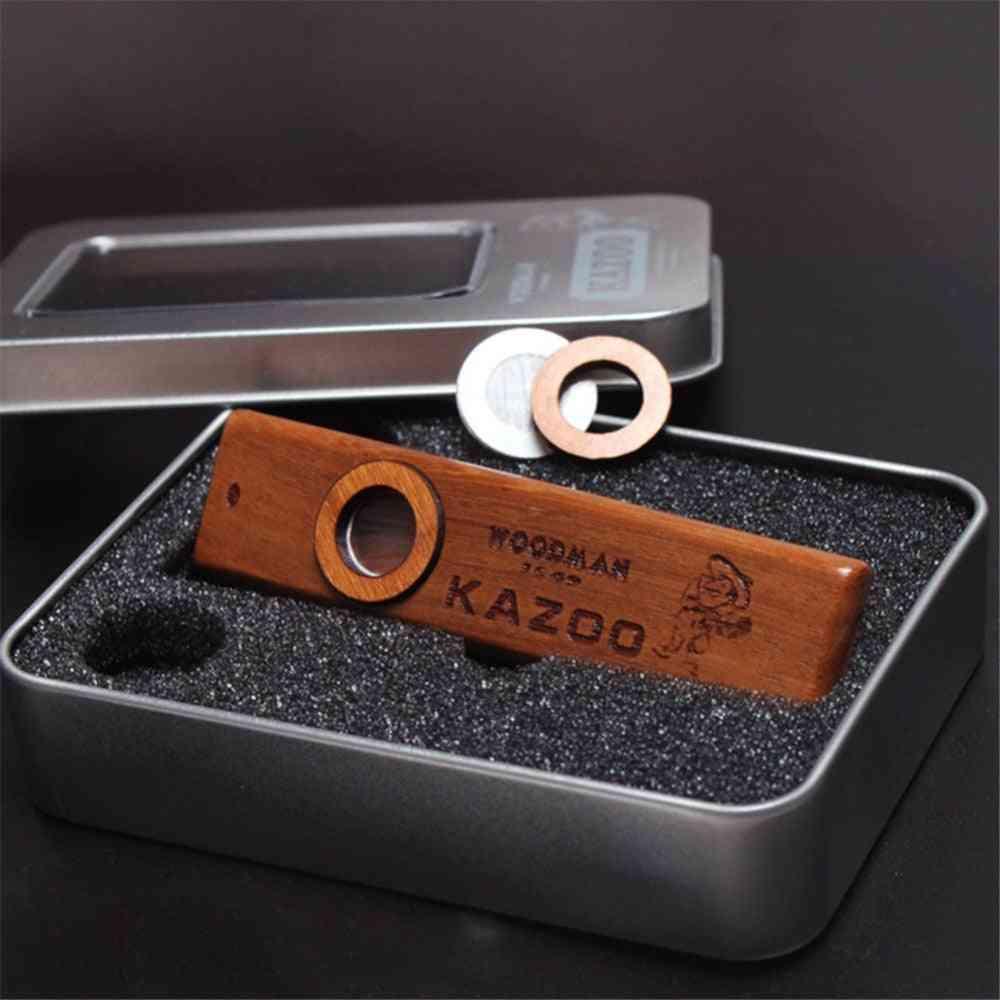 Wooden Kazoo Orff Harmonica With Metal Box