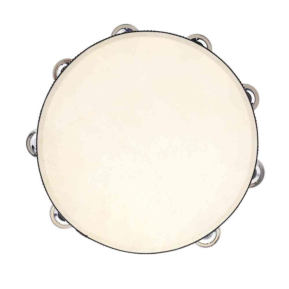 Tambourine Drum Bell - Birch Metal Jingles