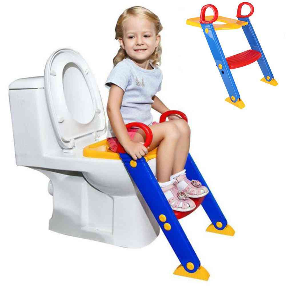 Folding Toilet Ladder With Adjustable Pedal