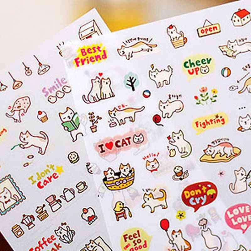 Creative Cute Pvc Cat Sticker Toy