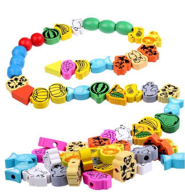 Cartoon Animals & Fruit Beads Toy For Baby