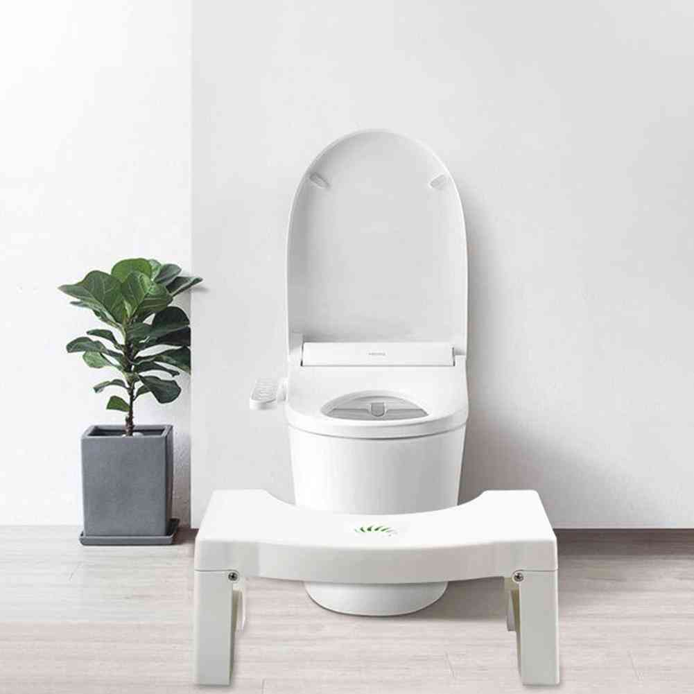 Foldable, Portable  - Non-slip Auxiliary Foot Toilet Stool