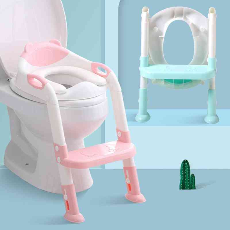 Folding Toilet Training Seat With Adjustable Ladder