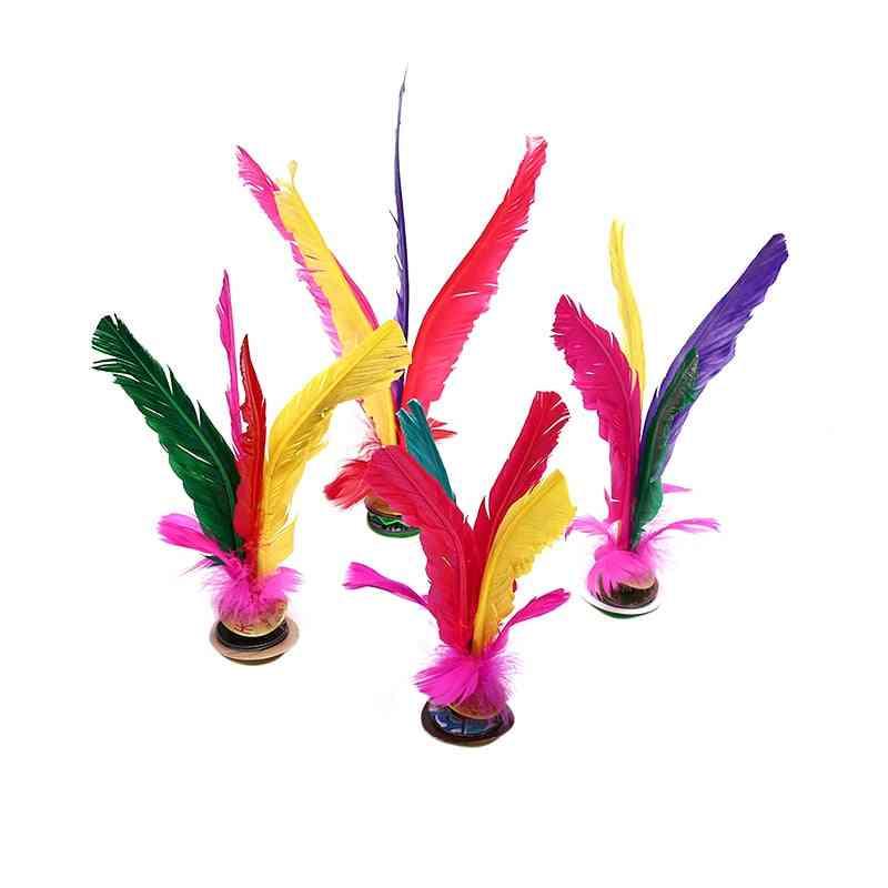 Foot Kick, Handwheel, Fancy Goose Feather Shuttlecock