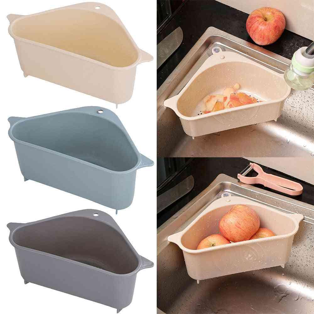 Self-standing Drain Sink, Leftovers Soup Juice Separated By Garbage, Filter Storage Basket Rack Tools