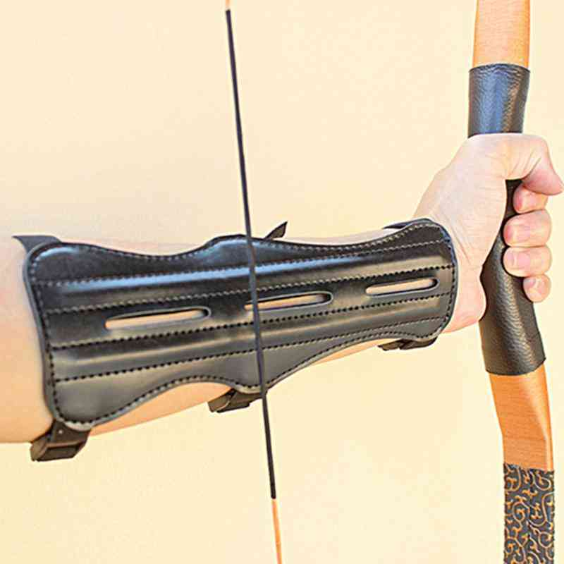 Hunting Traditional Pu Leather - Arm Restraint Protector