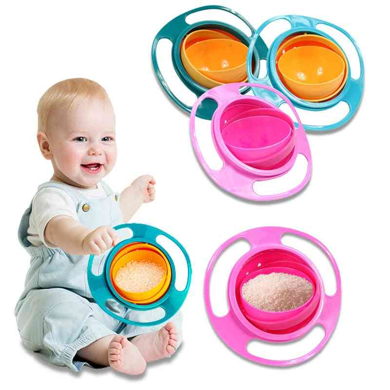 360 Degree Rotate, Spill-proof,  Solid Food, Feeding Bowl