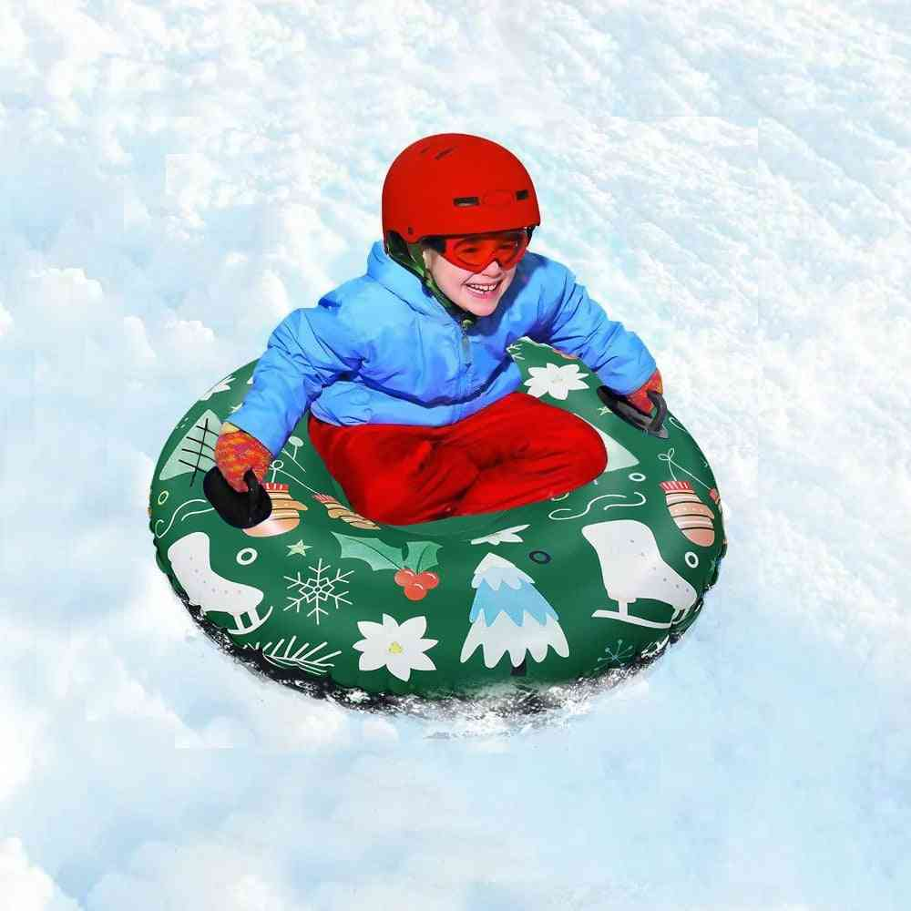 Inflatable Pvc Snow Tube  With Handle (about 120cm)