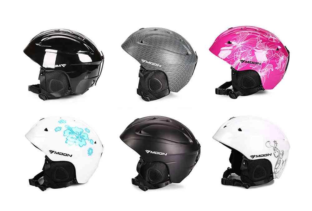 Moon Ski Helmet, Single Board Double Snowboard Protective Gear Equipment