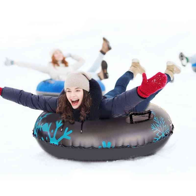 Inflatable, Printed Pvc Snow Tube With Handle For Skiing