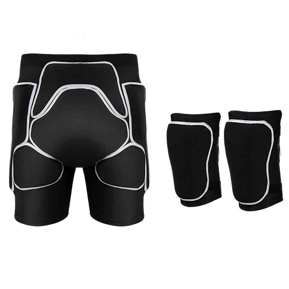 Unisex Sports Gear -hip Protection Shorts And Knee Pads