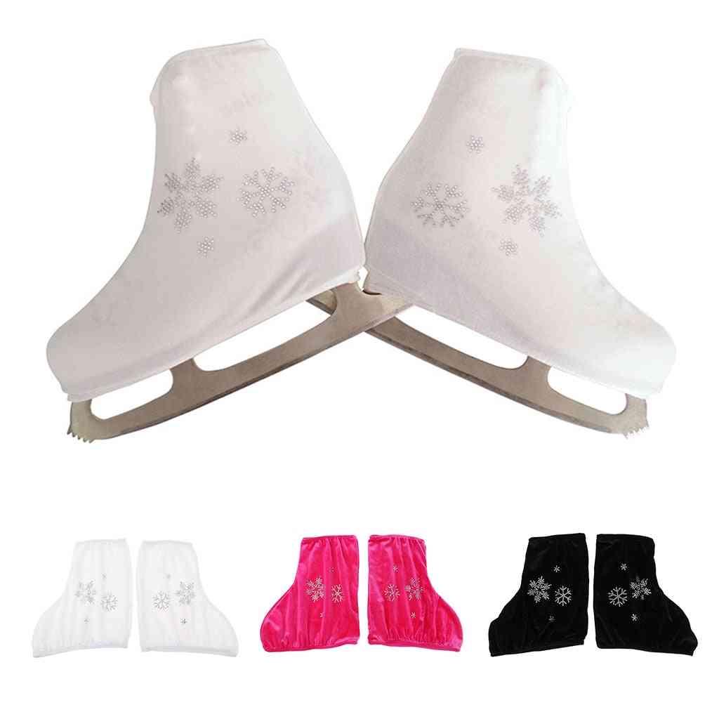 Ice Skate Boot Covers Protector For Figure Skating Velvet