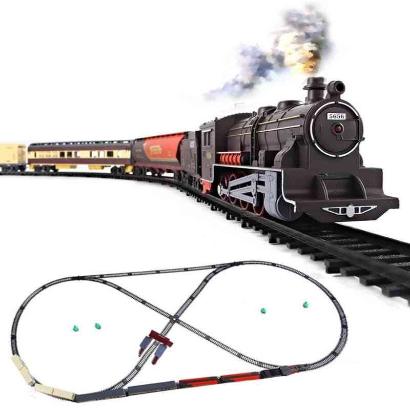Diy Assemble Electric Train And Track Model Set For