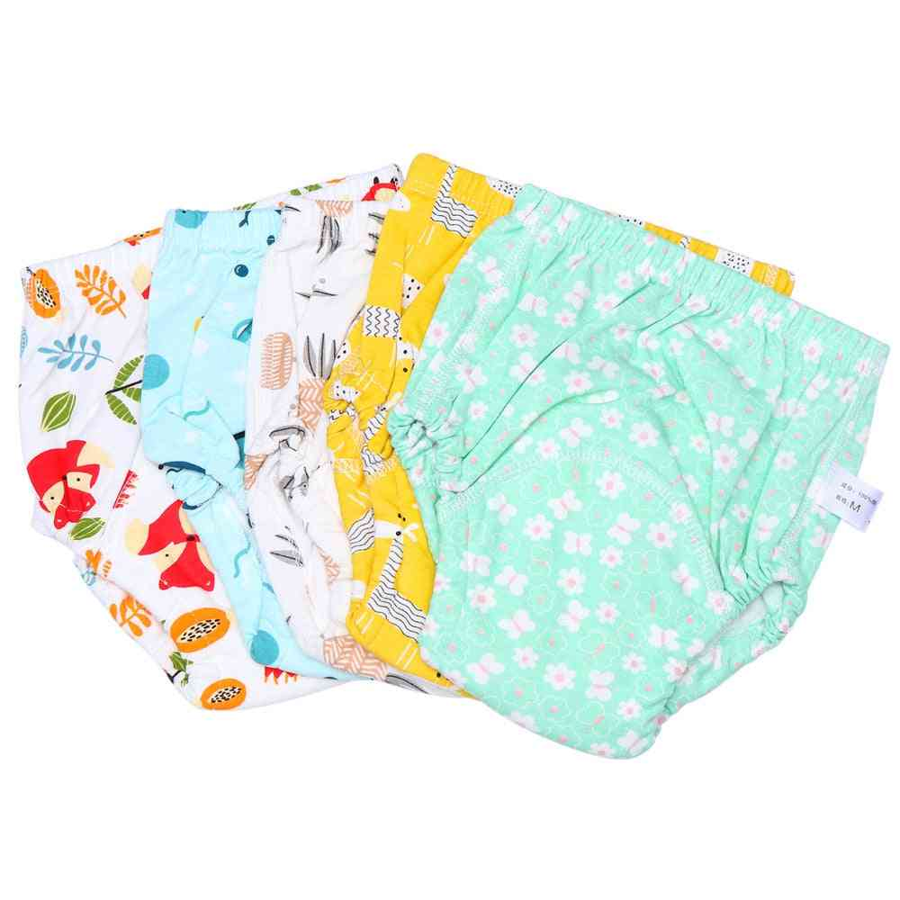 5pcs Of Soft Printed, Tpu And Washable Baby Toilet Training Pants