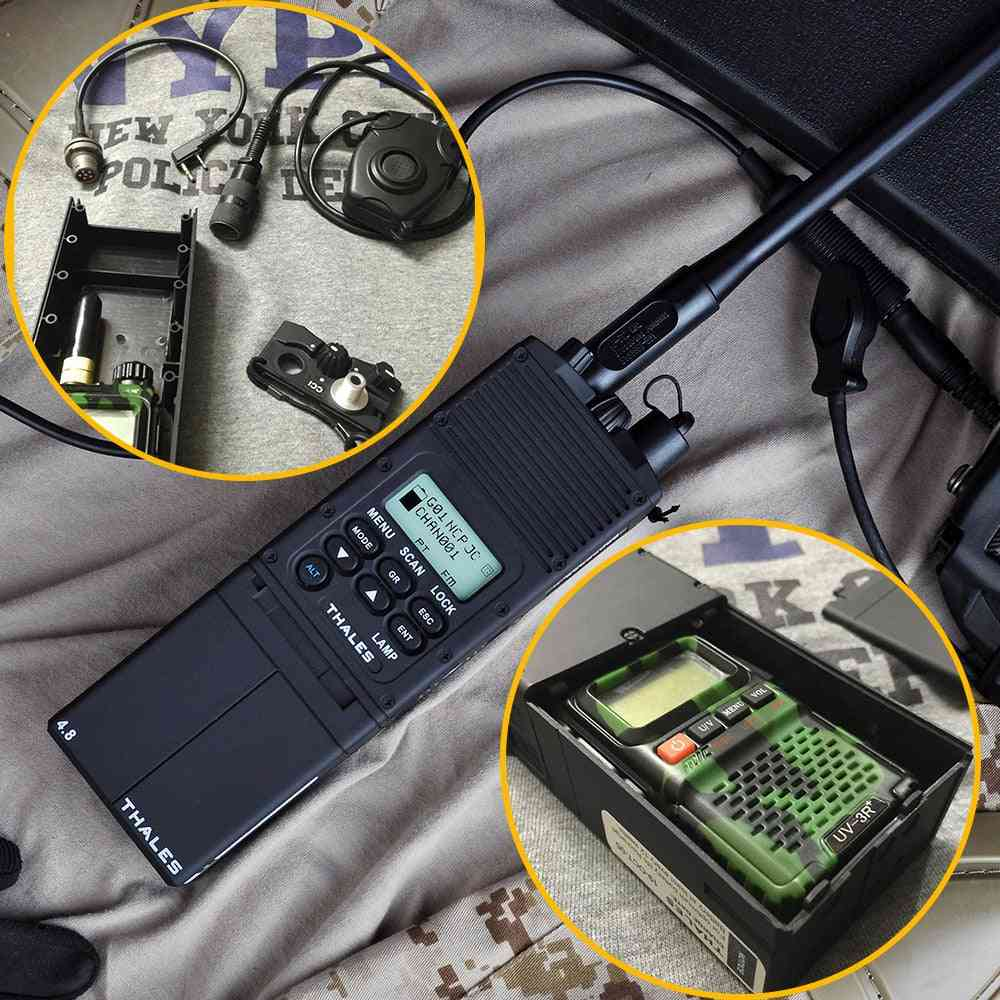 Airsoft Dummy Radio Case, No Function, Tactical Softair Talkie Walkie Antenna Cover