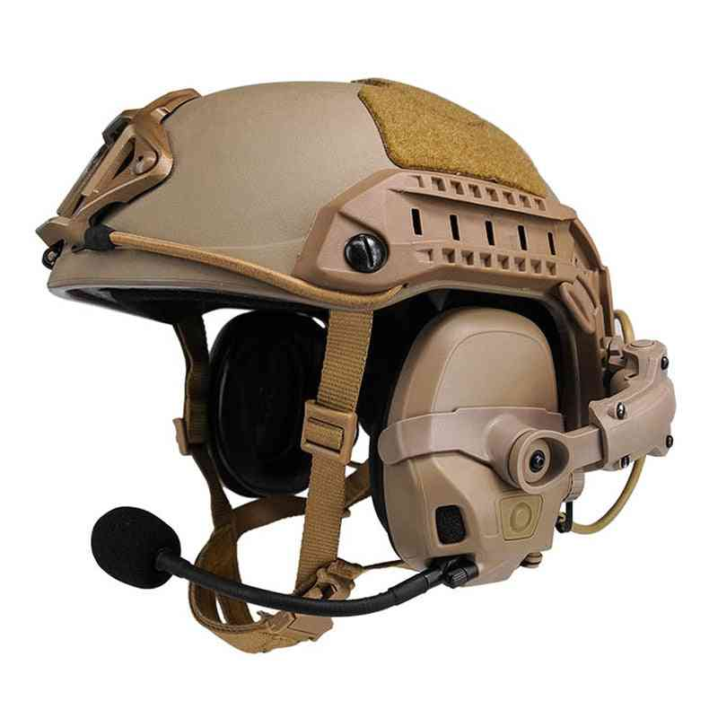 Tactical Amp Headset & Connecting Helmet Rail Adapter