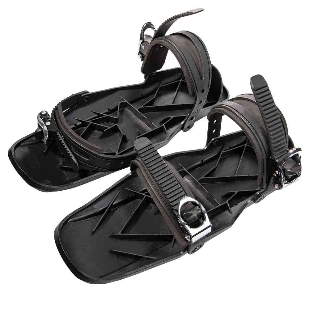 Adjustable Portable Winter Ski Skates Shoes Short Skiboard, Mini Snowblades Skates For Outdoor Sports