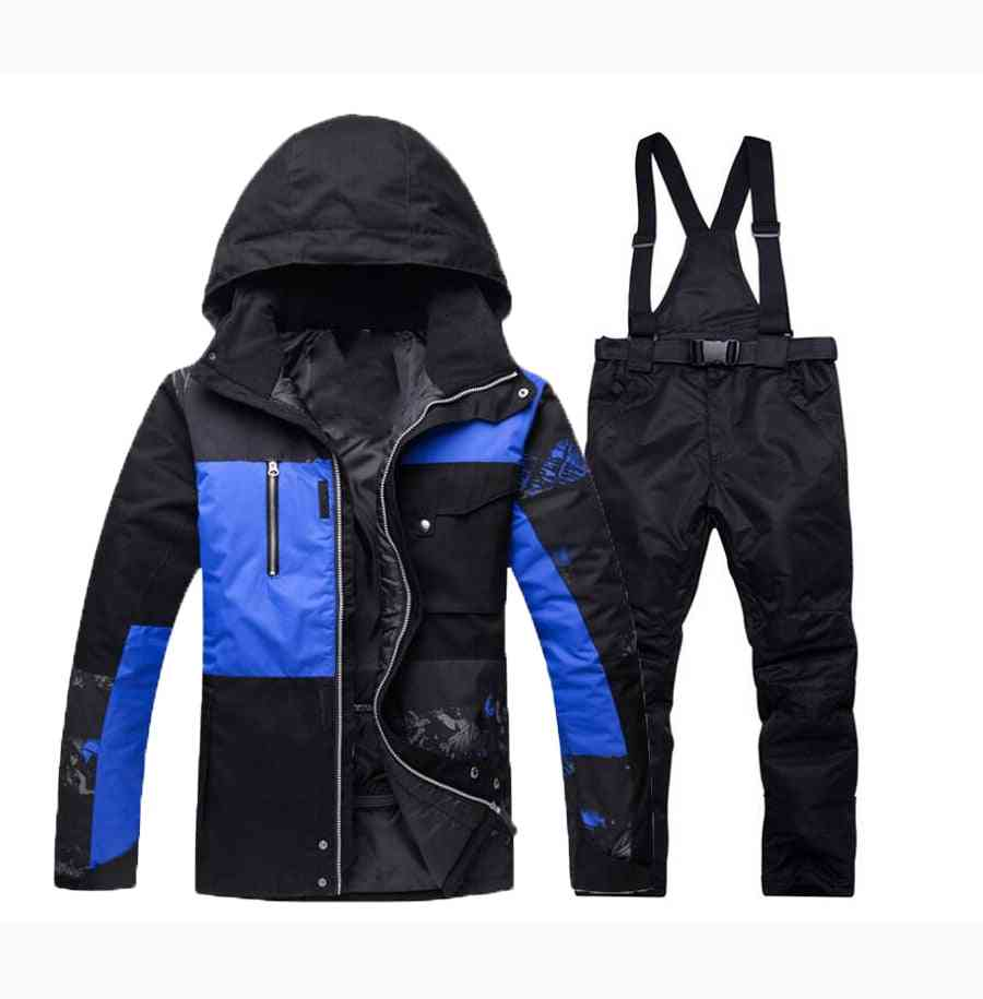 Winter Warm Snow Male Clothes Set, Outdoor Thermal Waterproof Windproof Jackets And Pants