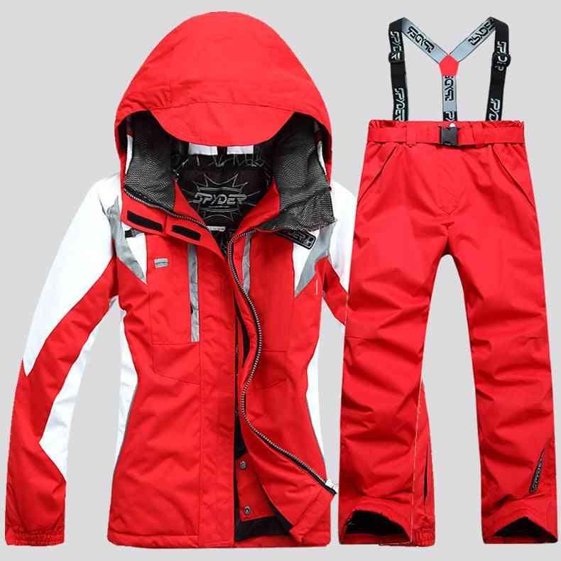 Winter Warm Women Windproof Jacket & Pant Suit