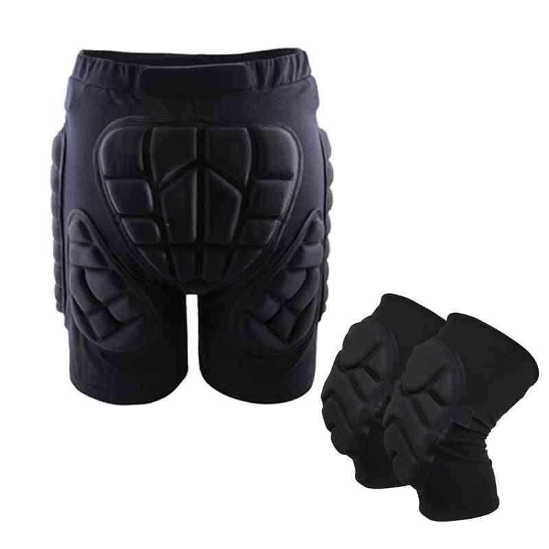 Ski Hip Padded Shorts & Knee Pads, Skiing Skating Snowboarding Impact Protection