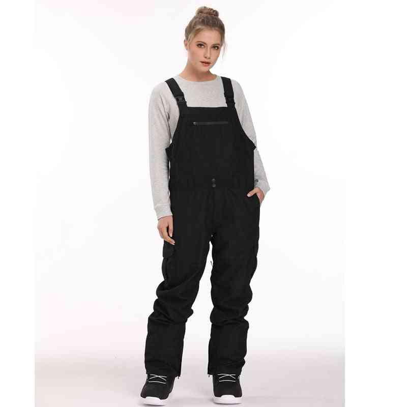 Ski Snowboarding Waterproof Bib Snow Pants, Thermal Warm Men Vintage Work Clothes