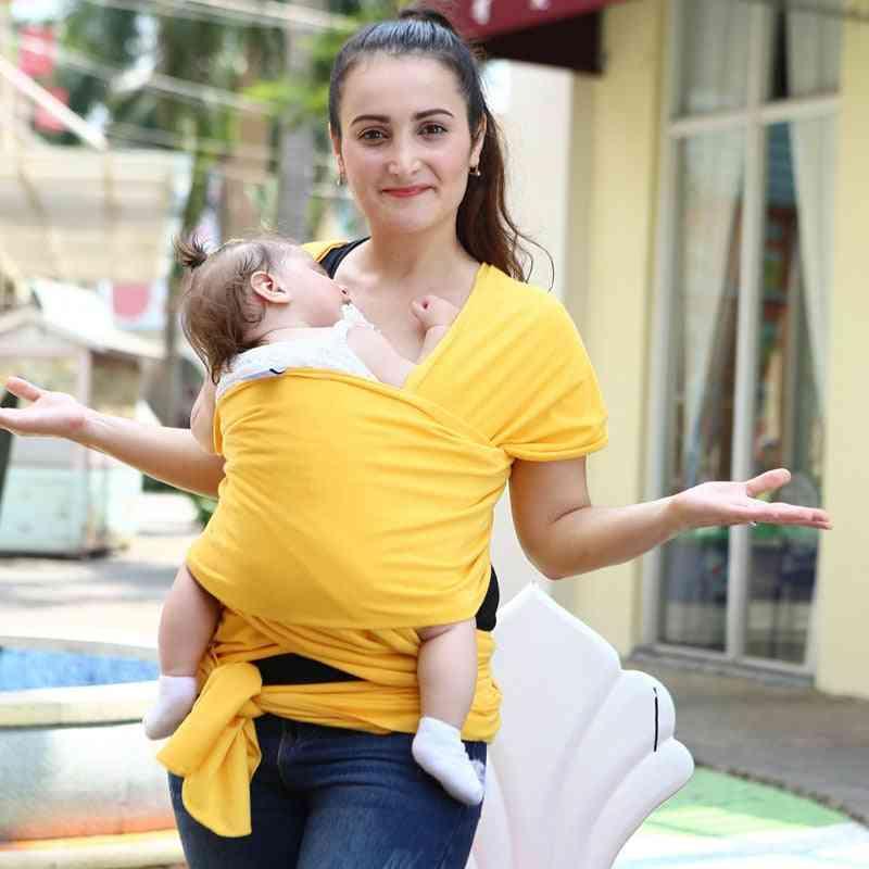 Infant Sling Soft Natural Wrapbabycarrier Backpack, Breathable Cotton Hipseat Nursing Cover