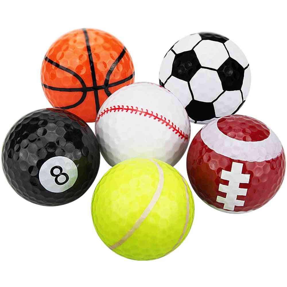 Novelty Sports Practice Golf Balls - Two Layers Golf Practice Balls