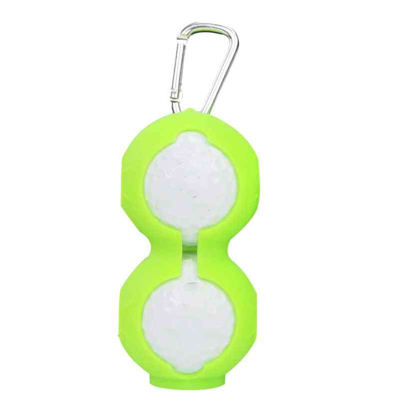 Golf Ball Protective Cover- Soft Silicone, Waist Holder, Double Layer