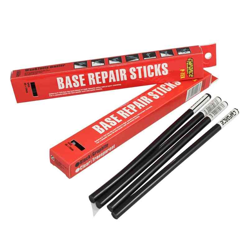 New Enforce Ski Snowboard Nordic Xc Ptex Drip Candle Black Base Repair Sticker