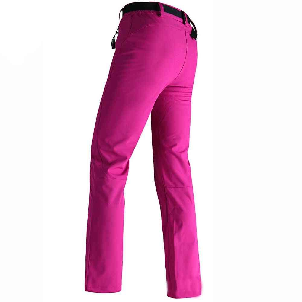 Women Warm Fleece Softshell Ski Pants Waterproof Sports Snowboard Pants, Winter Trousers