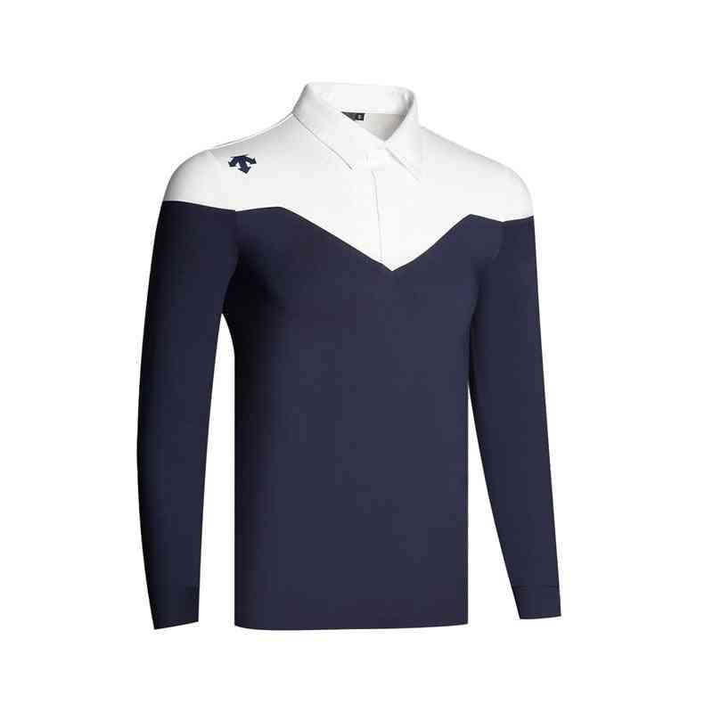 New Golf Men's Long Sleeve Golf Polo Shirt
