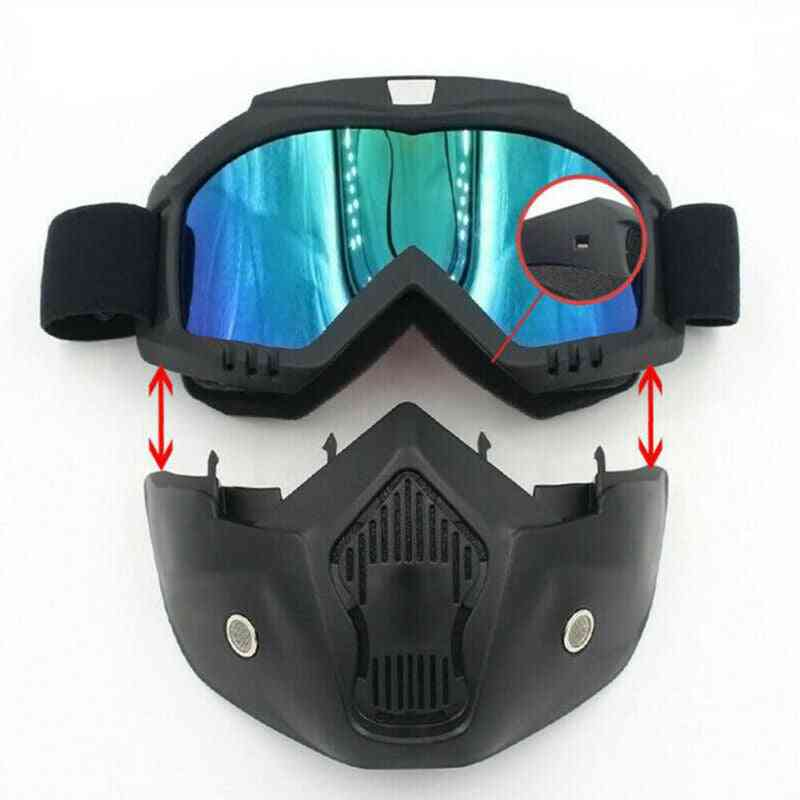 Windproof,  Motocross Protective Glasses, Safety Goggles Snowboard Mask