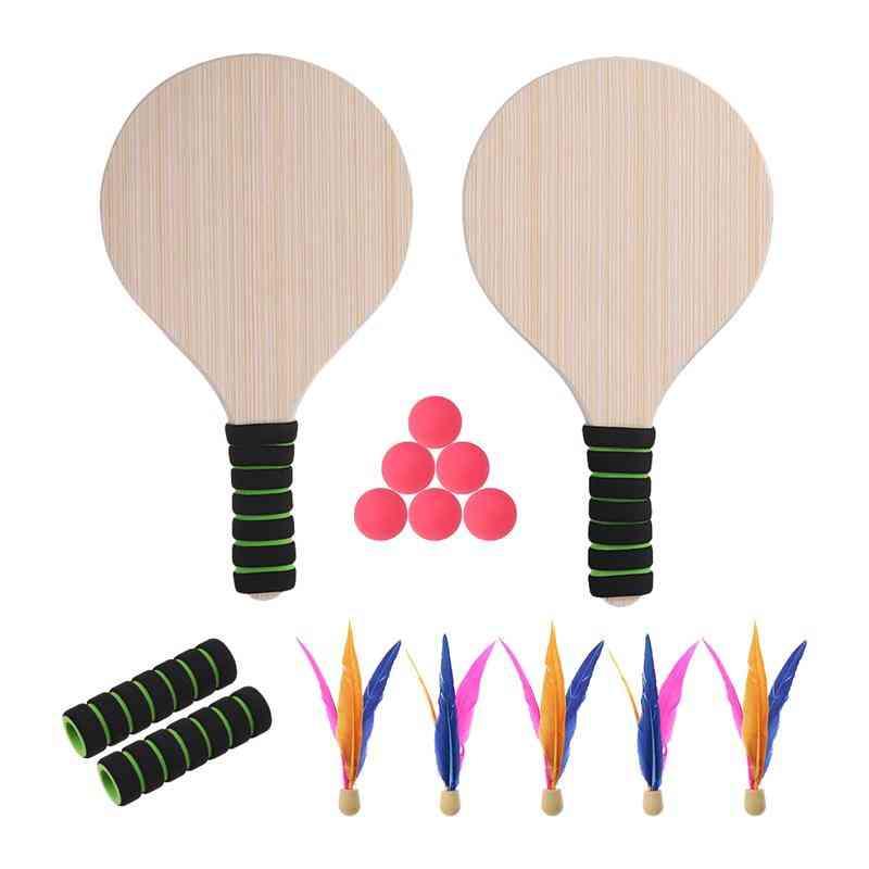 Beach Tennis Pingpong Cricket Badminton Racket Paddle Ball
