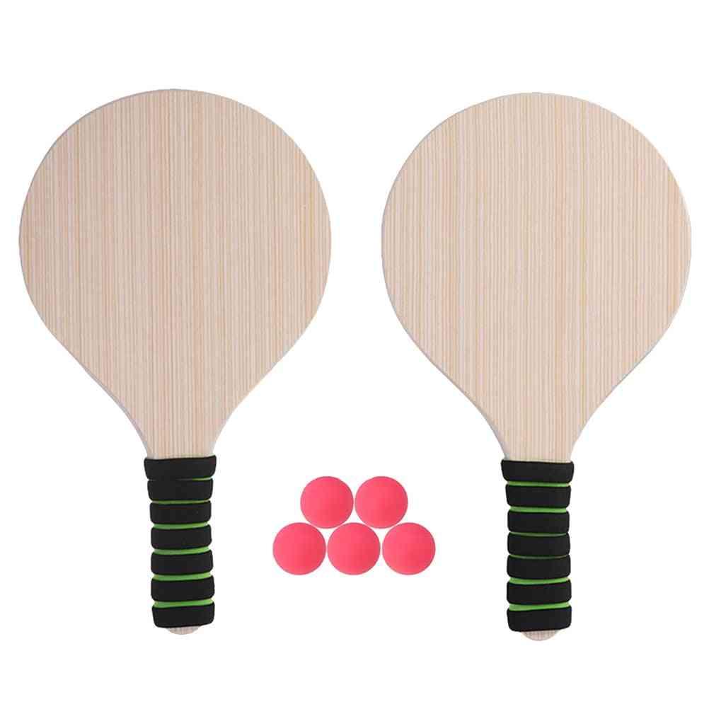 Beach Tennis Badminton Racket Paddle Ball Game