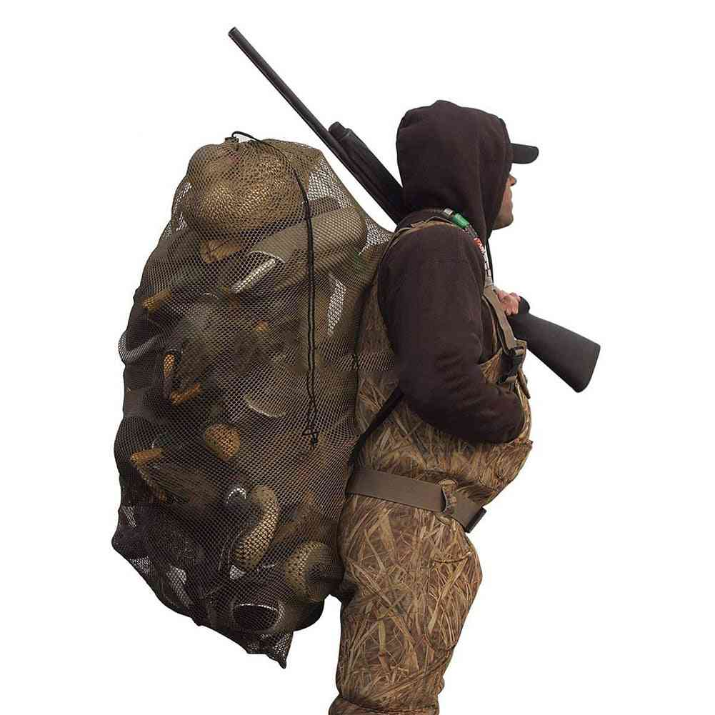 Decoy Mesh Bag Hunting Pouch Duck Waterfowl Carrying Adjustable Strap Supplies