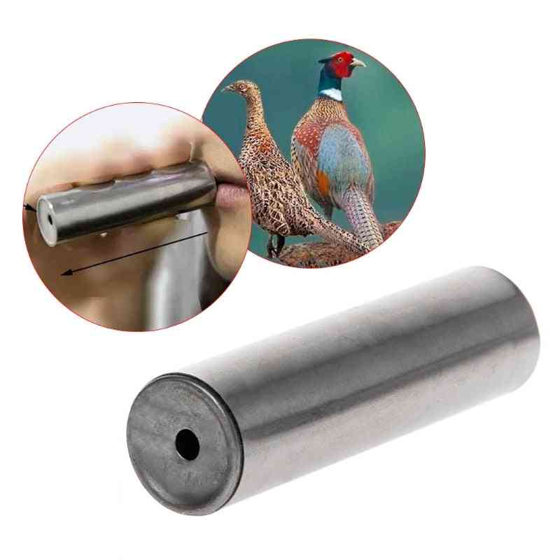 Hunting Whistle Outdoor Attractive Birds Shooting Stainless Steel Pheasant Gear