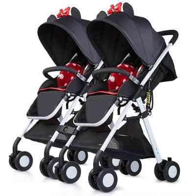 Lightweight Folding Portable Baby High Landscape Pocket Umbrella Cart Twin Stroller